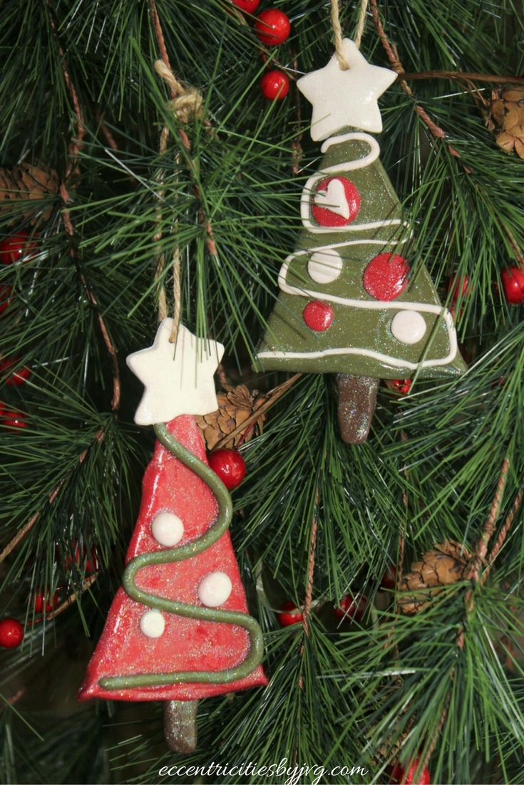 Christmas clay traditional ornaments