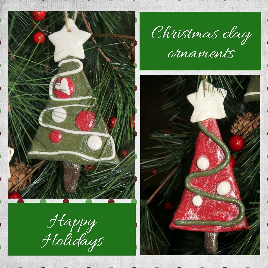 Christmas clay ornaments