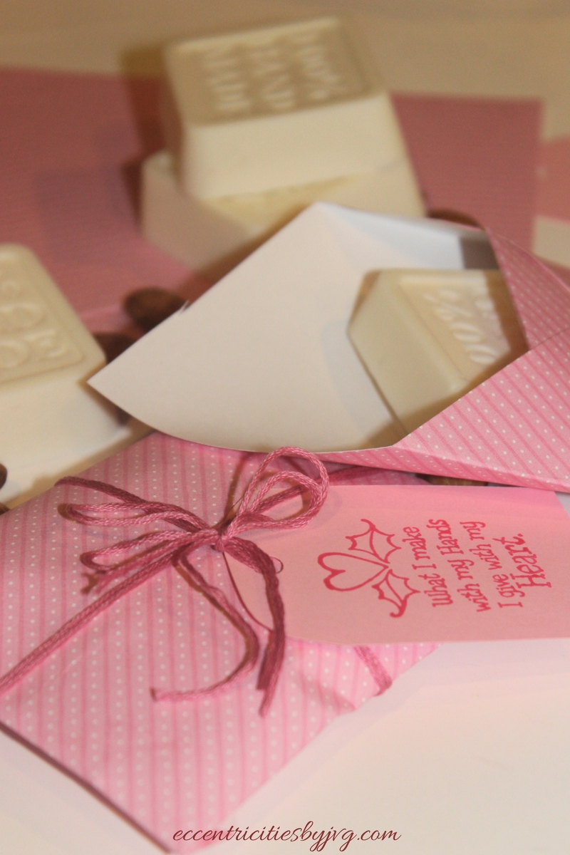 DIY Cedarwood and Almond soaps A St. Valentine's Gift