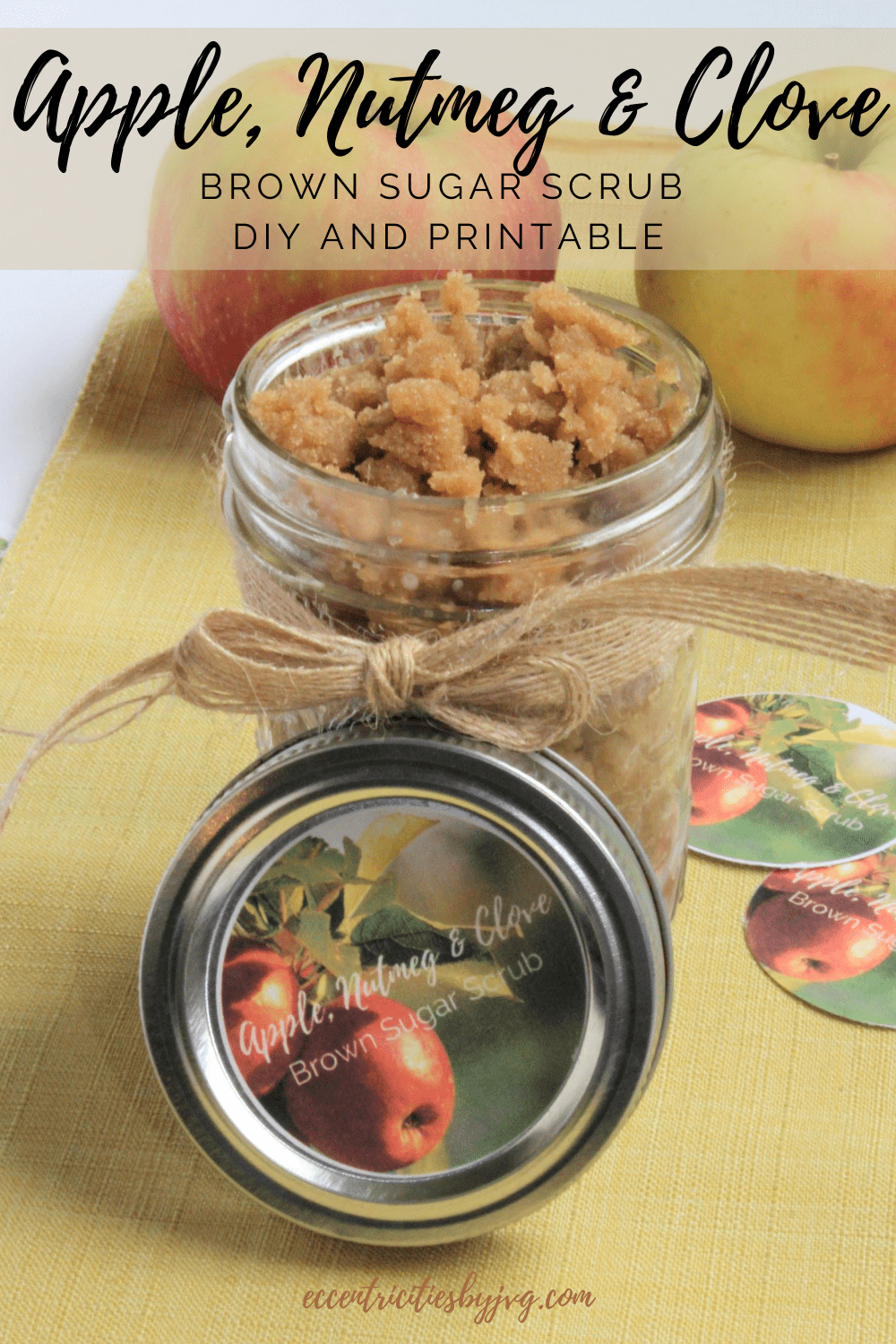 Apple, Nutmeg and Clove sugar scrub