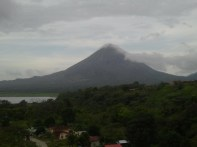 Volcano with Storm Rolling In