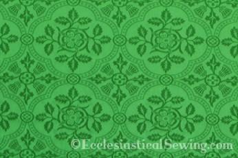 Cloister Liturgical Fabric-Green Rose