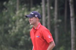 Benjamin Poke var fredag ni under par efter 14 huller på Lyngbygaard Golf