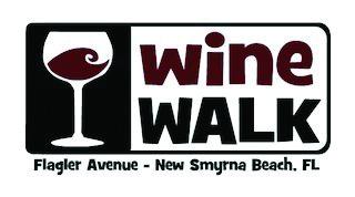 wine walk new smyrna beach logo