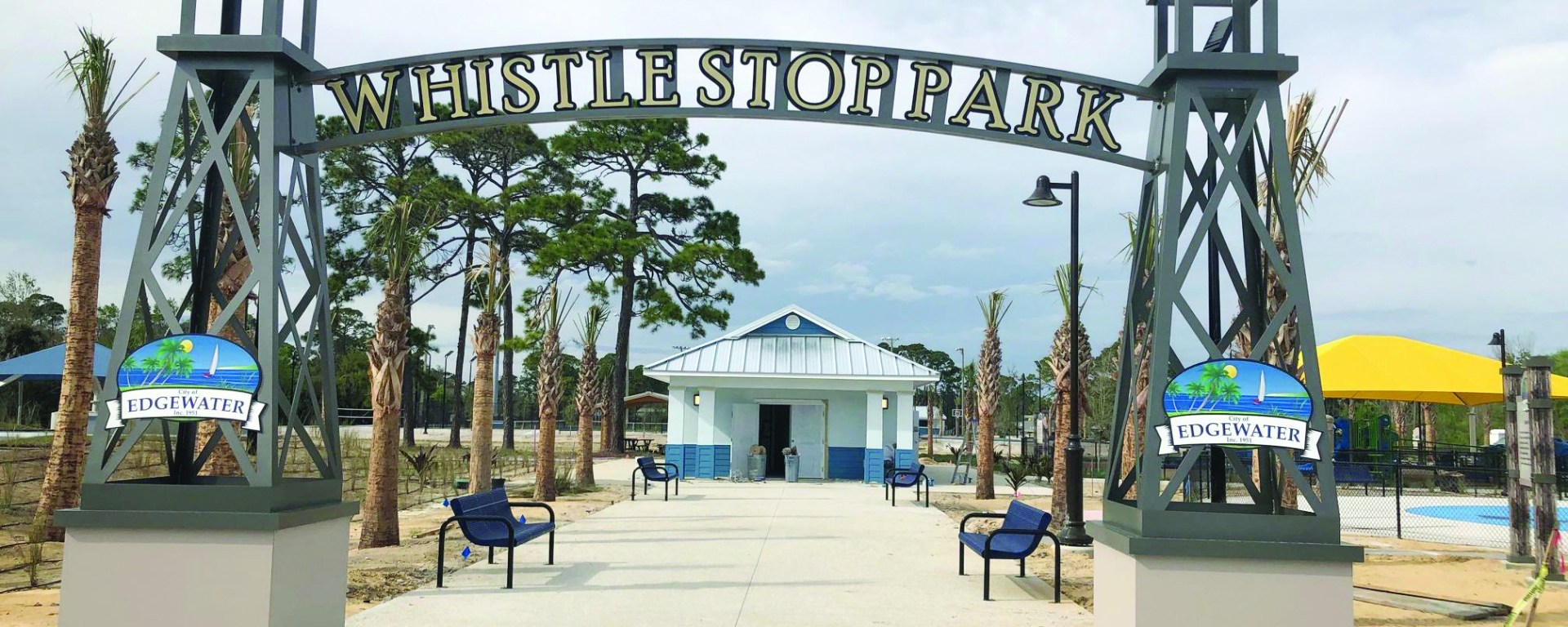 Whistle Stop Park entrance