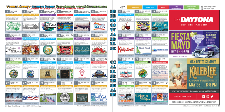 May 2019 Volusia County Calendar of Events