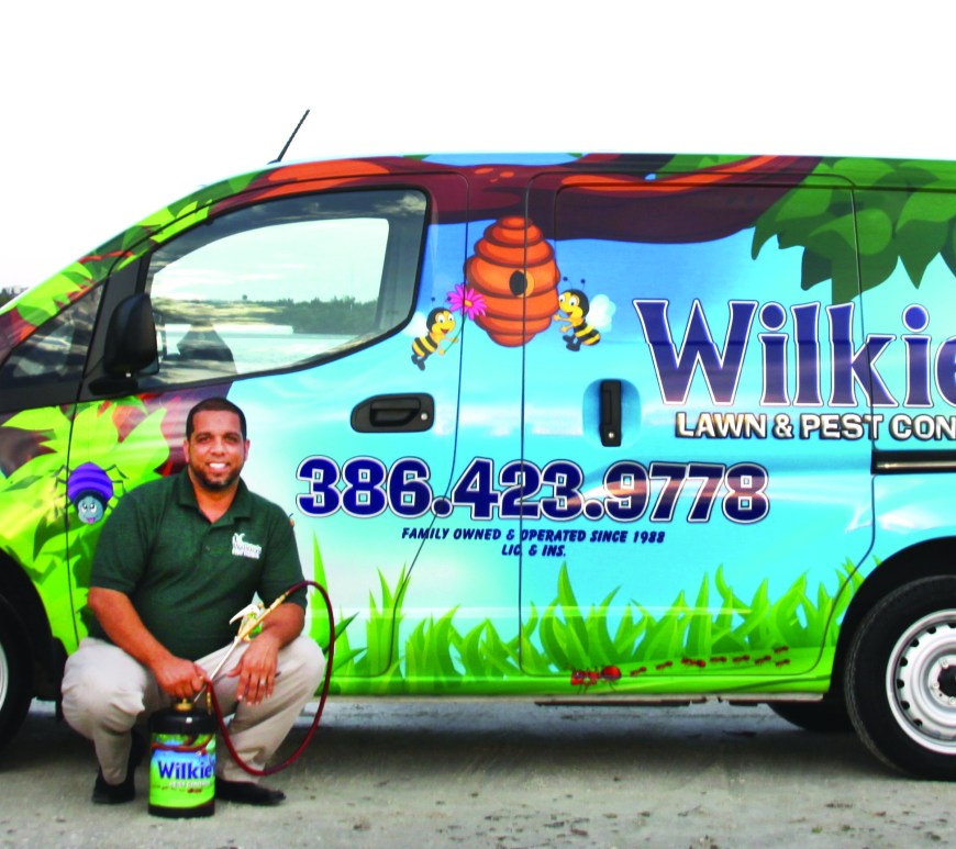 Wilkies pest control team with truck