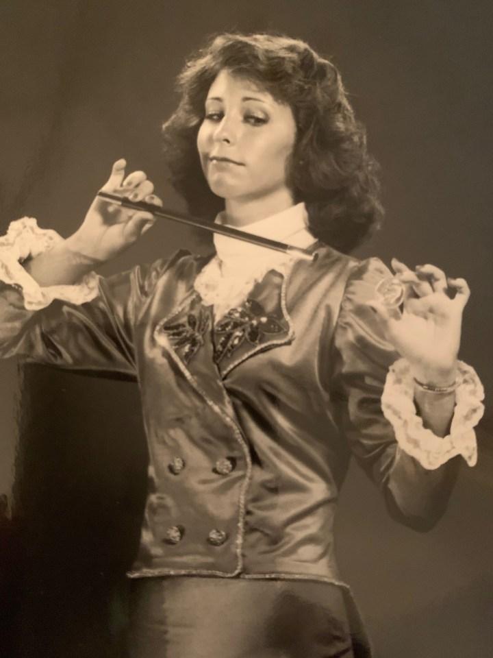karin Jenkins as magician