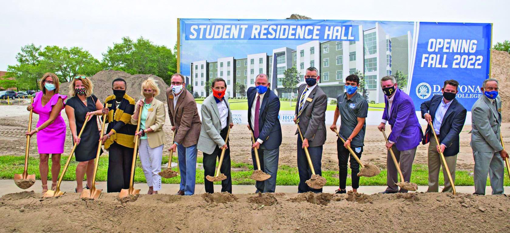 daytona state student residence ground breaking