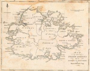 Map of the Island Antigua