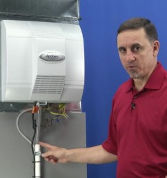 video home aprilaire power humidifier troubleshooting water leaking [ 1280 x 720 Pixel ]