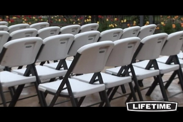 folding chair costco sunchaser floating lounge lifetime chairs 32 pk with cart video gallery home