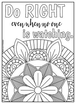 Motivational Mandala 10 Coloring Pages Set 2 by Gotta Luv