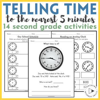 |2nd Grade Common Core: 2.MD.C.7| Telling Time to Nearest