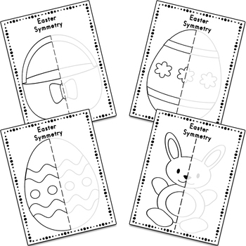 Easter Symmetry Drawing Activity for Art and Math by