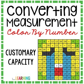 Measurement Capacity Conversions Color By Number Mystery