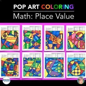 PLACE VALUE Coloring ALL YEAR Collection (incl. Winter