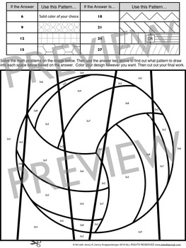 Sports Math Times Table Coloring Sheets by Art with Jenny