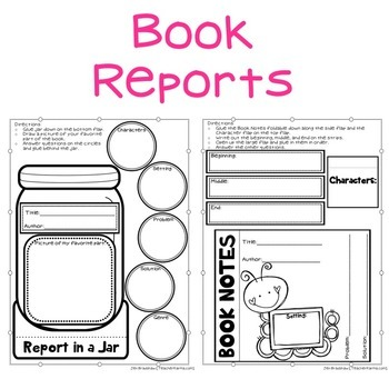 Interactive Reading Notebook * Book Reports