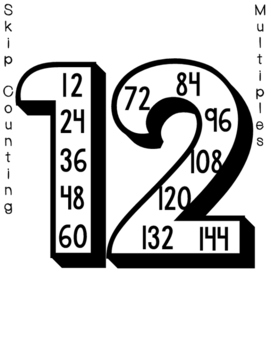 Skip Counting / Multiples Posters #'s 2-12 by Teachers R