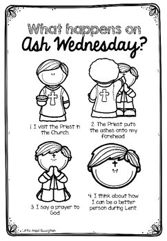 ** ASH WEDNESDAY AND LENT ** ACTIVITY PACK by Little Angel
