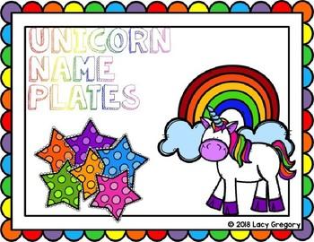 Unicorn Design Name Tag