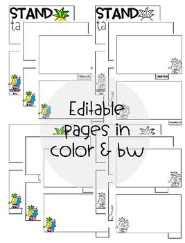 [Editable] Back to School Flipbooks *Pineapple Themed* by