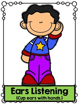 Second Step Listening Rules Posters by First Grade is
