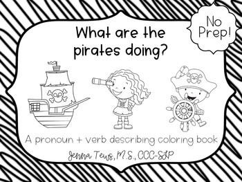 What are the pirates doing? No Prep coloring activity by