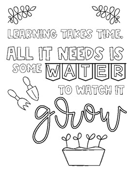 *FREE* Growth Mindset Coloring Pages by The Paper with No