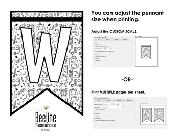 *FREE* Welcome Pennant Banner / School Doodle Design by
