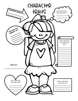 character graphic organizer printable That are Superb