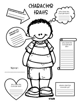 *FREEBIE* Character Traits Graphic Organizer by Thing One