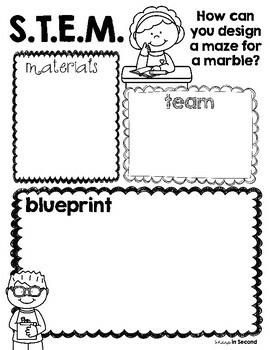 *FREEBIE* Marble Maze STEM Planning Sheet by Sharp in