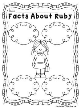Ruby Bridges NO PREP Printables ~ Black History Month by