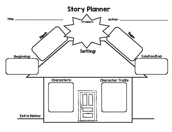 {Freebie!} Narrative Writing Story Planner House by Abby