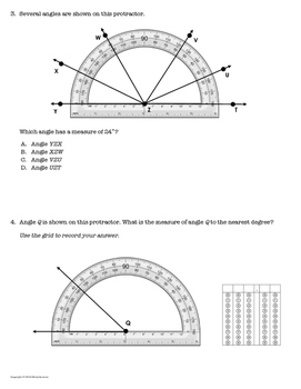 *Get STAAR Ready!* Mastery Quiz: Measure Angles with