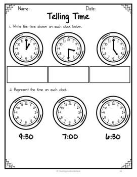 {Grade 1} Math Test Assessment Packet by