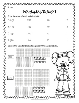 {Grade 3 CCSS} Place Value Activity Packet by