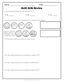 {Grade 3} Ontario End of Year Math Review by