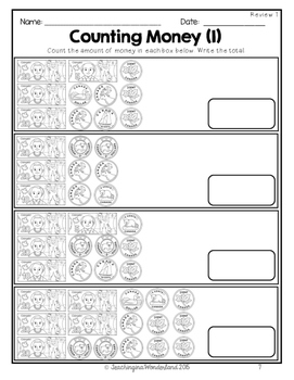 {Grade 5} Canadian Money No-Prep Activity Packet by
