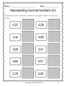 {Grade 5} Decimal Activity Packet by TeachinginaWonderland