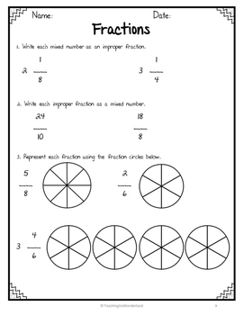 {Grade 5} Ontario Math Assessment Packet by Teaching in a
