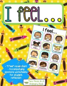 feel visual emotions chart and activities by two peas in  primary pod also rh teacherspayteachers