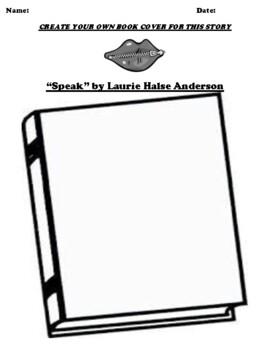 """Speak"" by Laurie Halse Anderson BOOK COVER WORKSHEET by"