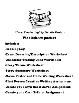 """Tuck Everlasting"" by Natalie Babbitt Worksheet Packet by"