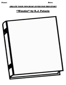 """Wonder"" by R.J. Palacio Book Cover Worksheet by Pointer"