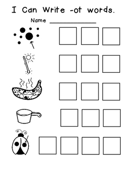-ot Word Family Emergent Reader Kindergarten with Pocket