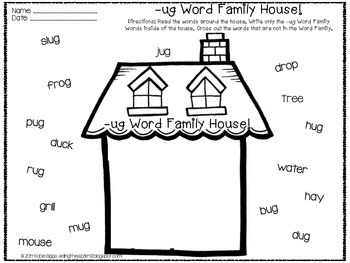 -ug Word Family Activities! by Second Grade Sizzle-Kacie