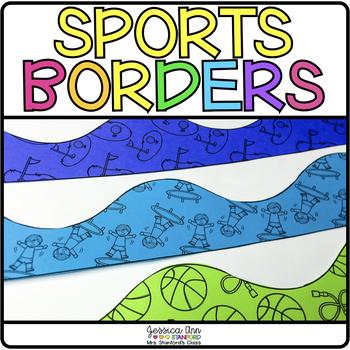 bulletin board borders sports